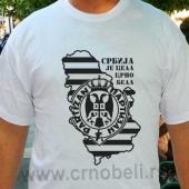 Crno bela Srbija - Majica bela